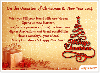 Merry Christmas & Happy New Year 2014!
